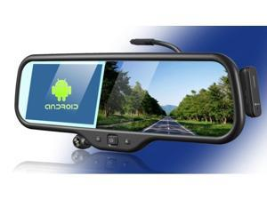 New Arrival Android 5 Inch rearview Mirror+GPS Navigation+Full HD1280x720 DVR+Bluetooth+8GB+Back Mirror DVR