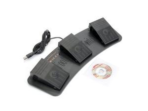 USB Game Foot Control KeyboardUSB Foot Control Keyboard Mouse Action Three-Switch Pedal HID Metal Foot switch