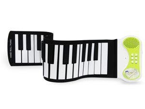 Brand Portable Electronic MIDI 37Key Silicon Flexible Roll Up Piano Keyboard for Kids Children Loud Speaker USB Cable