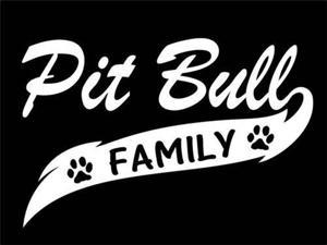 Pit Bull Family Window Decal Sticker 7 Inch