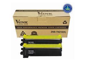 2 New TN210 BK Black Toner Cartridge for Brother TN210 K Toner Brother Printer HL-3040CN HL-3045CN HL-3070CW HL-3075CW MFC-9010CN MFC-9120CN MFC-9125CN MFC-9320CN MFC-9320CW MFC-9325CW Toner