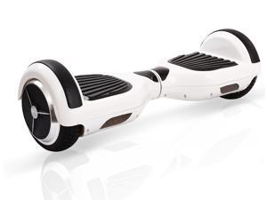 eFitu Two Wheels Smart Self Balancing Electric Scooters Hoverboard Skateboard with LED Light - White