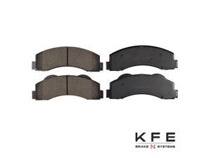 Front Premium Ceramic Disc Brake Pad Set + Shims Fits Ford Lincoln KFE1414-104