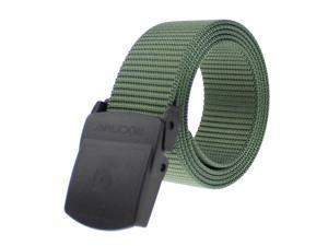 Rockway tactical belt-Longest nylon with non-metallic buckle military style waistband brand new design(Green)