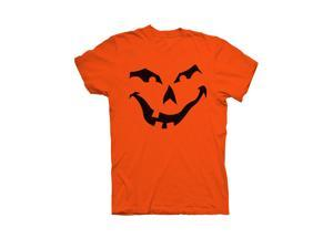 Halloween Jack O' Lantern Sinister  Pumpkin Face T-shirt - Medium - Orange
