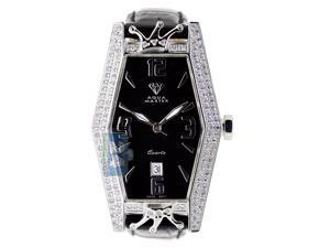 Lil' Kim Royalty by Aqua Master 1.50 ct Diamond Womens Black Watch