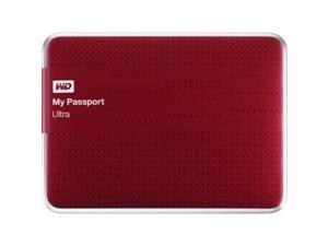WD My Passport Ultra WDBZFP0010BRD-NESN 1 TB External Hard Drive - USB 3.0 - Portable - Red - Retail