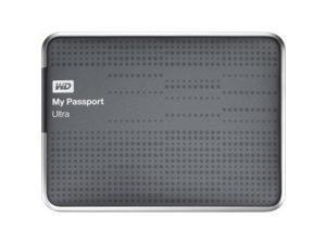 WD My Passport Ultra WDBZFP0010BTT-NESN 1 TB External Hard Drive - USB 3.0 - Portable - Titanium - Retail