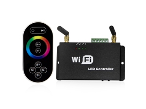 All-purpose WiFi LED Controller w/ RF Remote - Multi-zone RGB/Dual/Single Color LED Dimmer Controller - Compatible with Android & IOS Smart Phones