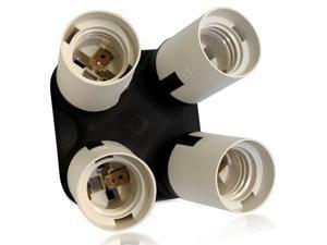 4 in 1 E26/E27 Light Socket Splitter - Bulb Socket Adapter Converter for Photography, Studio, Home Lighting
