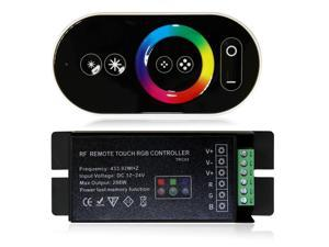 LED RF Remote Touch Panel RGB Controller for LED Color-changing Product Memory Function DC 12V-24V Max Output 288W