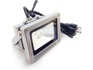 10W Durable Outdoor LED Flood Light - 7000K Pure White - 120 Degree Beam Angle - Epistar COB LED - Waterproof IP65