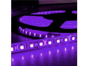 16.4ft (5m) PURPLE Waterproof Flexible LED Strip Lights - 12V 4A 600LEDs/pc 3528 LED Tape Light - Waterproof IP65