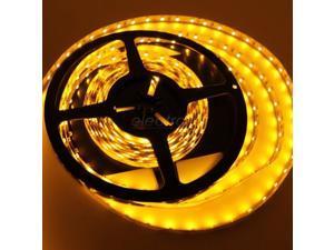 12V Light AMBER 16.4ft/5m Flexible LED Strip Lights - 3528 300LEDs/pc Non-waterproof(IP-44)