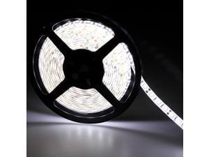 16.4ft (5m) WHITE Waterproof Flexible LED Strip Lights - 5050 SMD 300LEDs/pc LED Light Strip - Multifunctional LED Tape Light