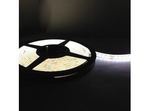Warm White/Daylight Dual Color 16.4ft (5m) Flexible LED Strip Lights - 3000k-6000k Adjustable - 24v Input 600SMD 3528 LEDs, Non-waterproof