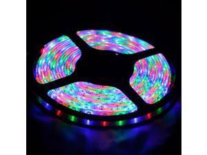 Chasing RGB LED Light Strip Kit - Kit Includes: 16.4ft (5m) Chasing Effect RGB Waterproof Flexible LED Strip Lights + RGB Control Box + 24-key IR Remote