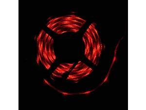 RED 16.4ft(5m) Streamy Color Chasing LED Strip Lights w/ 24-key IR Remote - Waterproof 3528 SMD 300LEDs/pc LED Light Strip