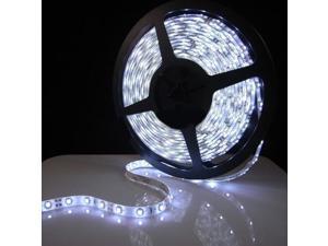 WHITE  16.4ft(5m) Streamy Color Chasing LED Strip Lights w/ 24-key IR Remote - Waterproof 3528 SMD 300LEDs/pc LED Light Strip