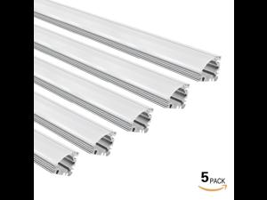 5 PACK 1M/3.3ft Aluminum V-Shape Channel for flex/hard LED Strip Light w/Oyster White cover Emulational Neon Effect-V01