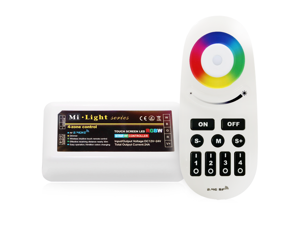 WiFi Compatible RGB+White Multi Zone Controller w/ RF Remote - 4 Zone RGBW LED Controller - Compatible with Smartphone/Tablet PC (Hub not included)