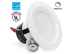 12Watt 4 inch ENERGY STAR UL-classified Dimmable Retrofit LED Recessed Lighting Fixture - 2700K Warm White LED Ceiling Light - 850LM 85W Equivalent Recessed Downlight