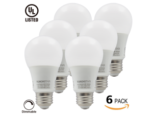 6-Pack 110V 9W Dimmable A19 LED Bulb - 60W Equivalent UL-listed Daylight LED A19 Light Bulb - 850lm E26/E27 Base A19 Bulb for Home, Residential, Commercial, General Lighting