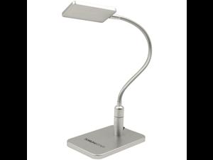 SILVER Eye-friendly LED Desk Lamp, 3-level Brightness, Touch Sensitive Control, Daylight White, Flexible Gooseneck, Flicker-free, No Ghosting & Anti-glare for Work/Reading/Studying/Relaxation/Bedtime