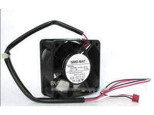 Original NMB-MAT 2410ML-04W-B39 6025 6CM DC Cooling fan with  12V 0.16A 2Balls Bearing 60X60X25MM 3 Wires 3Pins