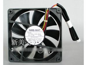 Original NMB-MAT 4710KL-04W-B59 12025 2Blls Bearing Cooling fan with 12V 0.72A 114.7CFM 2800RPM 41.5dbA 3 Wires 3Pins