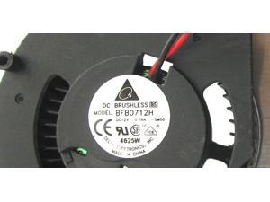 Delta BFB0712H DC Cooling fan with 12V 0.35A 75X120X25MM 2 Wires 2 Pins For EN6800Ultra/2DT Quadro FX 580