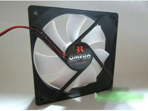 Omega 12cm DC Fan with 12V 0.10A 2 Wires For  Case