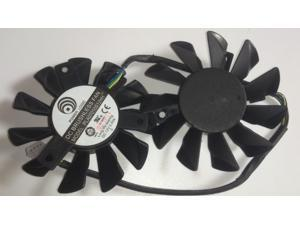 Twins Frameless Cooling Fan of Power Logic PLA07010S12HH with 12V 0.5A 4Wire