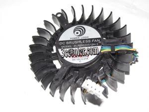 Power Logic PLB05010S12H-3 12V 0.27A 4 wires 4 pins vga fan 9800GT 7800GTX graphics card cooler