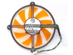 Power Logic PLA08015D12HH 12V 0.35A 4 wires 4 pins orange cricular fan GAINWARD GTS 250 GT430 GTS450 graphics card cooler