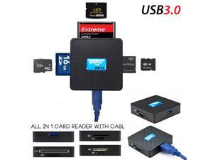 USB 3.0 Card Reader - High Speed USB 3.0 All in 1 SD TF CF XD M2 MS Flash Memory Card Reader Adapter