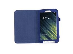 SAVFY Samsung Galaxy Tab 3 Lite 7 Tablet Case with Free stylus pen - Flip Stand Cover Case for Tab 3 Lite 7.0 inch, SM-T110 - Dark Blue