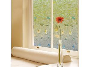 "Removable Self-adhesive 3D Static Frosted Privacy Cling Glass window film Size of 34.5""x78.8""(S170)"