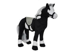 18 inch Barnyard Farm Western Cowboy Poseable Black Horse Pony Stuffed Animal
