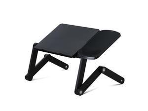 Furinno Ergonomics 360 Degrees Adjustable Multi-functional Laptop Desk Bed Tray, D1-Black