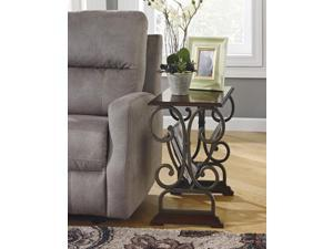 Chair Side End Table Brown