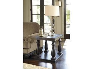 Rectangular End Table Black