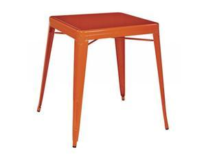 Paterson Metal Table in Orange Finish