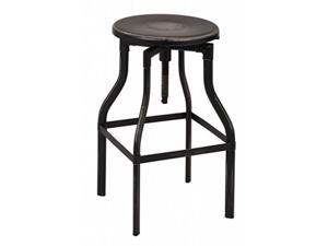 "Eastvale 30"" Metal Barstool In Antique Black Finish, Fully Assembled."