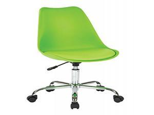 Emerson Student Side Chair With pneumatic Crome base in Green Finish