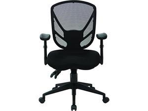 Black Office Chair with Saddle Seat Design, KD