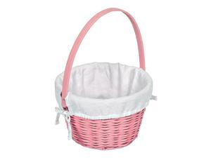Pink Easter Basket With White Mini Waffle Liner