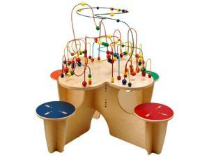 Kids Fleur Rollercoaster Multi Activity Learning Fun Table With 4 Attached Stool