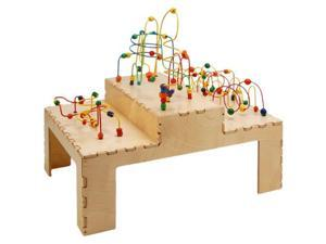 Space Shuttle Rollercoaster Group Play Learning Activity Table W/Colorful Beads