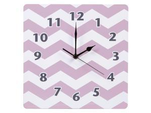 Orchid Bloom Chevron Wall Clock